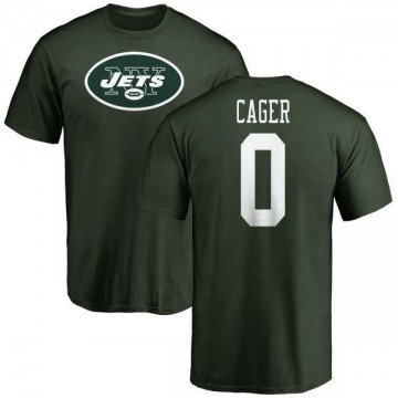 Men's Lawrence Cager New York Jets Name & Number Logo T-Shirt - Green