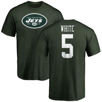 Men's Mike White New York Jets Name & Number Logo T-Shirt - Green