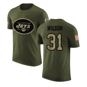 Men's Quincy Wilson New York Jets Olive Salute to Service Legend T-Shirt