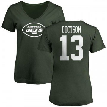 Women's Josh Doctson New York Jets Name & Number Logo Slim Fit T-Shirt - Green