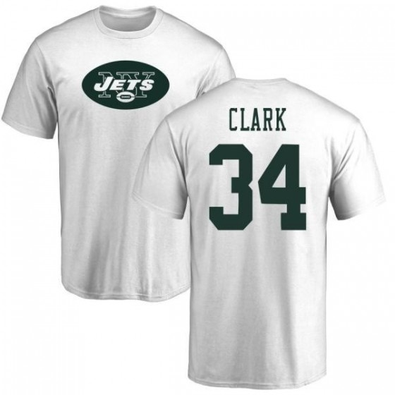 best sneakers 95402 c37da Youth Jeremy Clark New York Jets Name & Number Logo T-Shirt - White