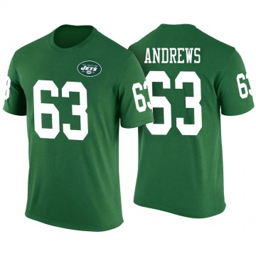 Youth Josh Andrews New York Jets Green Color Rush Legend T-Shirt