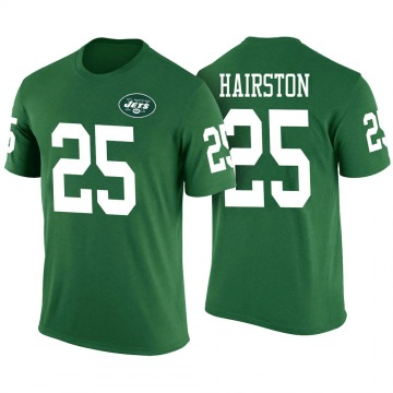 Youth Nate Hairston New York Jets Green Color Rush Legend T-Shirt
