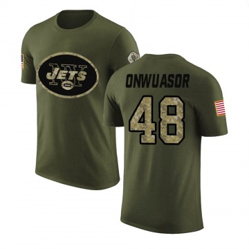 Youth Patrick Onwuasor New York Jets Olive Salute to Service Legend T-Shirt
